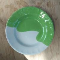 จานก้นลึก 8 นิ้ว สีเขียว