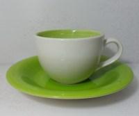 ชุดกาแฟจานรอง-เขียวครีม