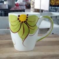 แก้วมักดอกชบาเขียว