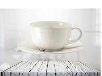 แก้วกาแฟและจานรอง 260 ซีซี ขาว