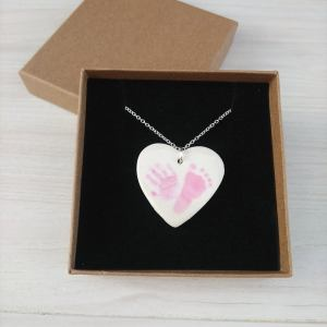 baby print necklace