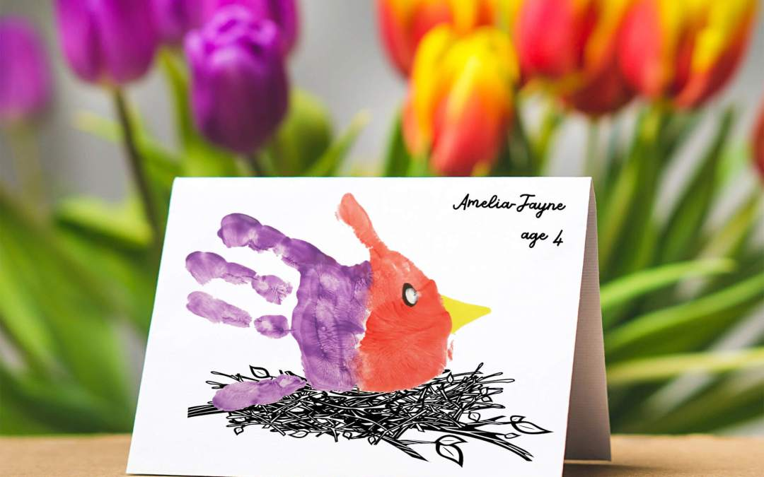 Bird Handprint Card