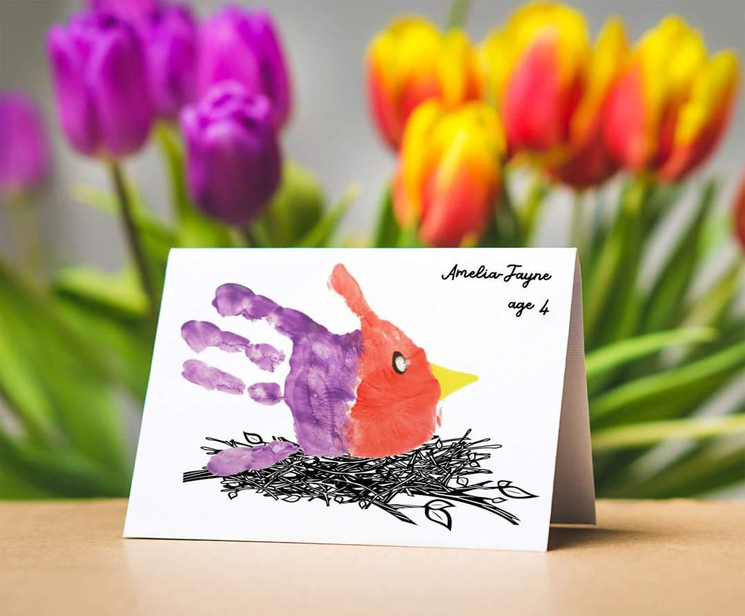 Bird Handprint Card