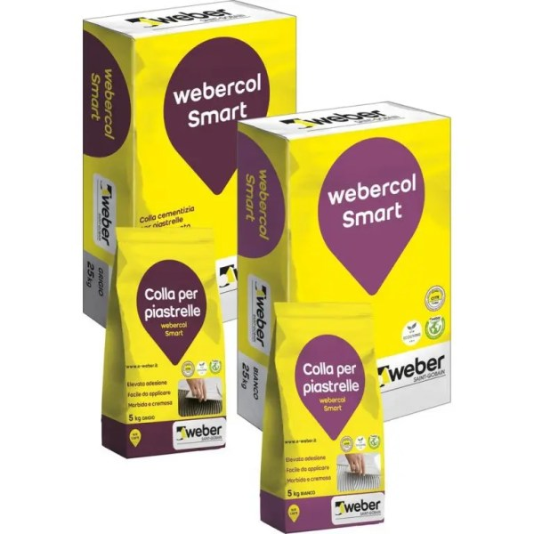 Webercol Smart da 25kg Colla per Rivestimenti Bianca