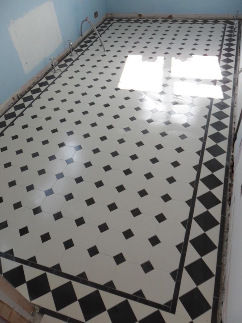 Victorian Bathroom floor tiling  Expert Tilers North London