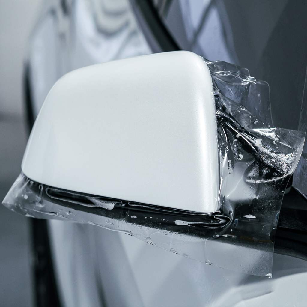 tesla model x side mirror paint protection film near me tampa bay 33614