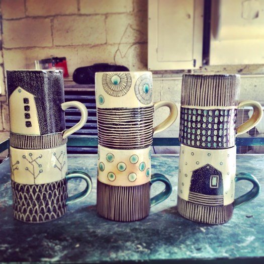 Ceramicscapes - Soda fired mugs