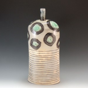 Cindy Guajardo - Handmade Soda Fired Pottery Bottle