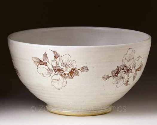 Page Kelly Piccolo - Zephyr Valley Ceramics and Pottery - Bowl with Decal