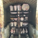 7 - Soda Firing Process - The Back of the Kiln is Loaded