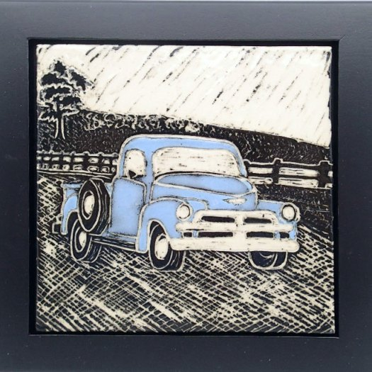 Jackson Gray of JackPots Pottery - '50's Pickup Truck Tile