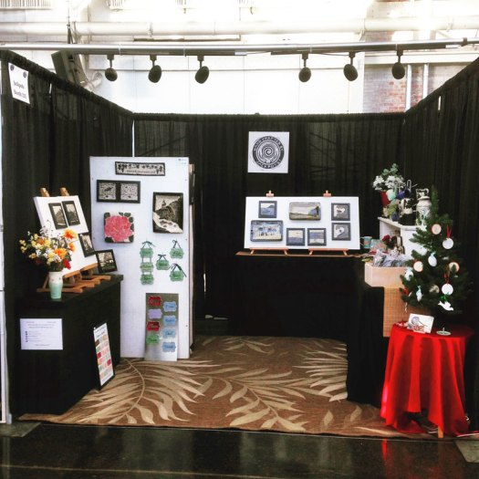 Jackson Gray of JackPots Pottery - Booth at Craneway Winter Crafts Show 2016