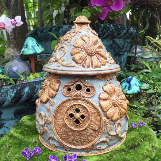 Karrita Renzelmann of Queen Bee Pottery - Fairy House