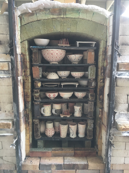 Soda Kiln is loaded - kiln packs are visible