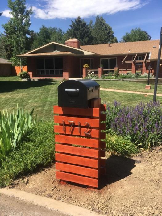 contemporary mailbox design