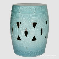 RYNQ153_Asian inspired furniture Porcelain Garden Stool ...