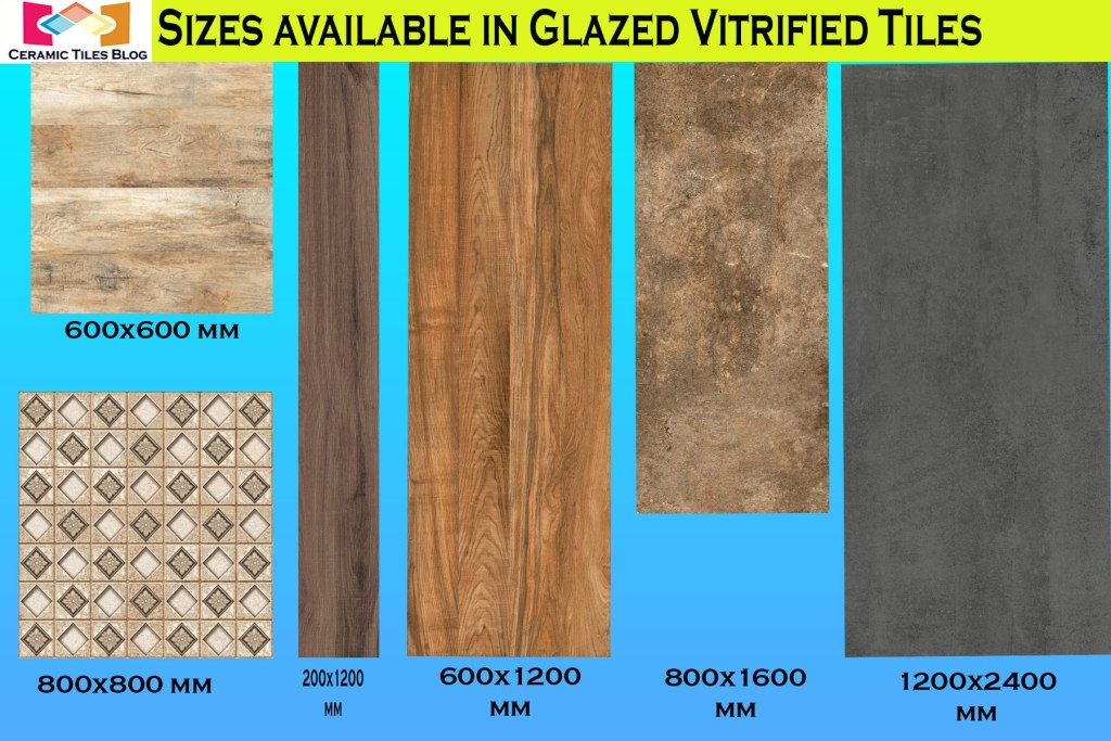 Glazed Vitrified Tiles Sizes