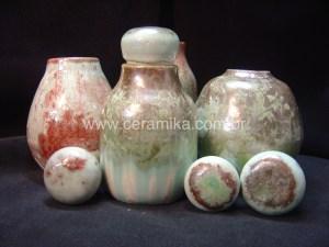potes ceramicos com esmalte cristalino