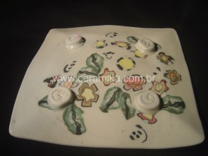 porcelana colorida neriage ou nerikomi