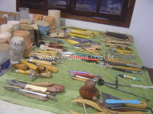 ferramentas para fazer ceramica