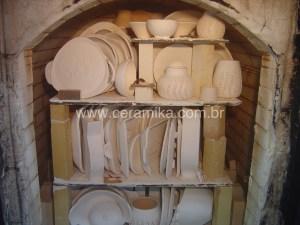 biscoitos ceramicos em forno à gás