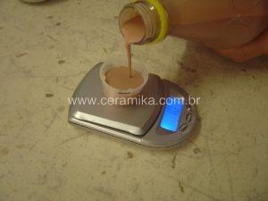 balança para medir densidade do esmalte ceramico