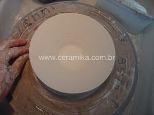 torneando um bowl em porcelana