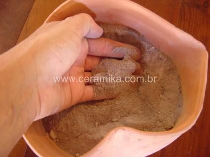 calcinando farinha de ossos