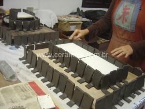 argila stoneware para corpos de testes de esmalte