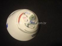 bowl torneado com argila colorida