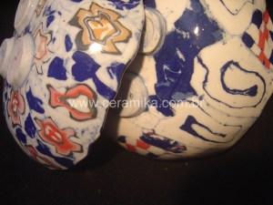 porcelana colorida peças em nerikomi