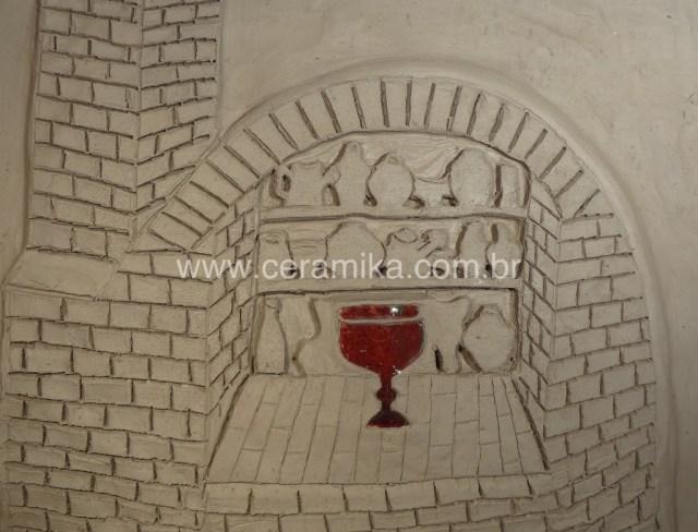 lendas da ceramica esmalte vermelho