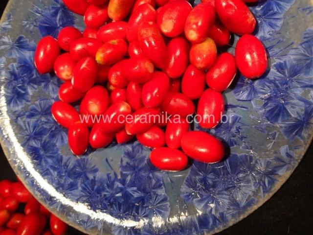 miracle fruit em prato com cristais