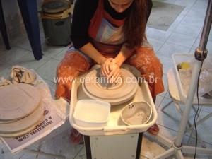 ceramic weel throwing
