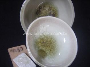 esmalte celadon em bowls ceramicos