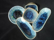 esmalte cristalino em peças de porcelana