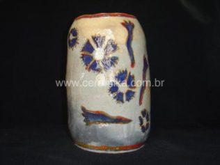 vaso modelado com paperclay
