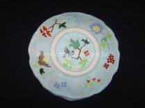prato redondo em ceramica
