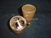stoneware nas peças de alta temperatura
