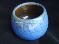 revestimento azul com esmalte cristalino