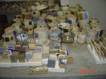 resultado de queima de testes ceramicos