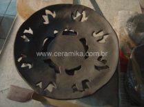 peça modelada em stoneware