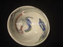 porcelana colorida em torno ceramico