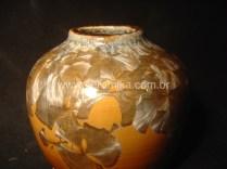 macro cristais no vidro ceramico