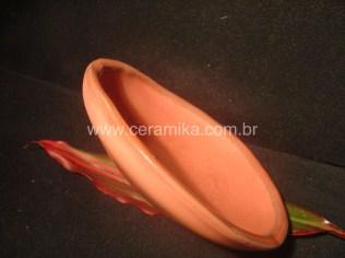 esmalte vermelho em ceramica