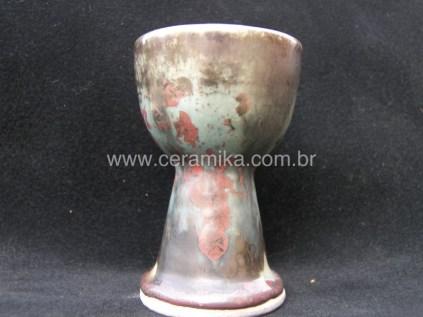 goblet ceramico com esmalte cristalino