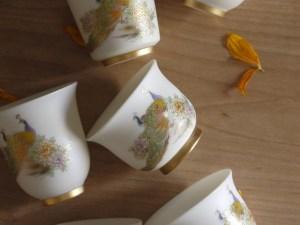 Dehua Blanc De Chine Jade Porcelain Peacock Teacup Ceramitique