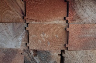 Double tongue and groove red cedar for walls