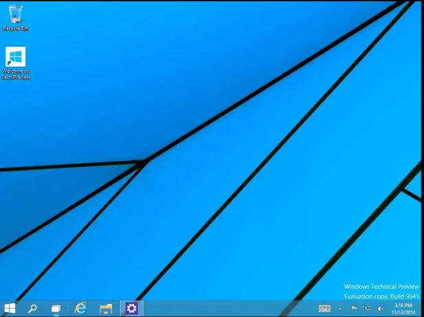 First desktop after installation