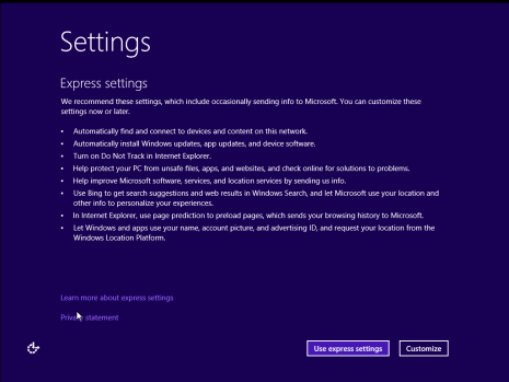 Settings dialog box